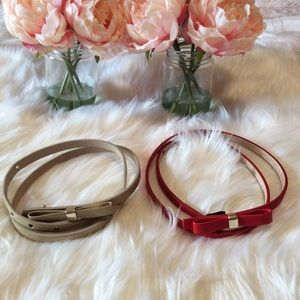 Express Skinny Bow Belt Bundle